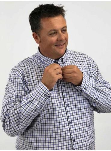 Camisa Oxford cuadro Tartán...