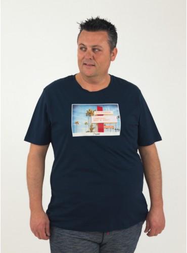 Camiseta Hotel en marino de...