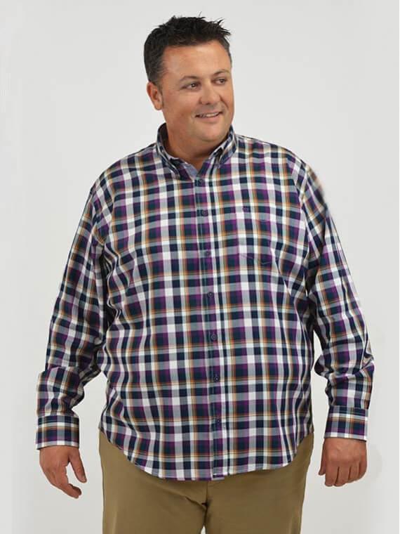 camisa-oxford-cuadro-vichy-regular-fit