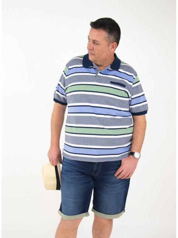 bermuda indigo knit hombre talla grande