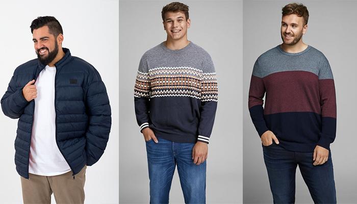 chaquetas y jerséis de tallas grandes para hombres