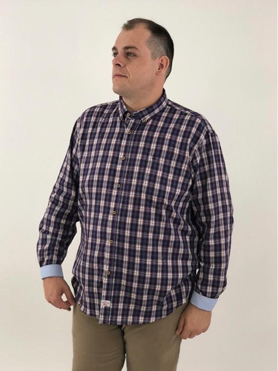 camisa-a-cuadros-vichy-regular-fit tallas grandes hombre