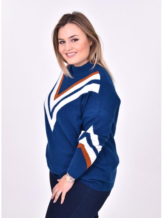 cómo combinar jerseys cuello alto mujer